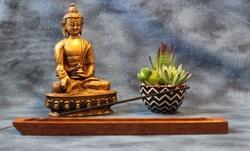 Incense Holder, Brownheart Wood, Flat design