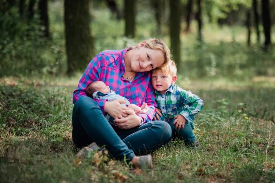 Magdalena Karpińska z dziećmi