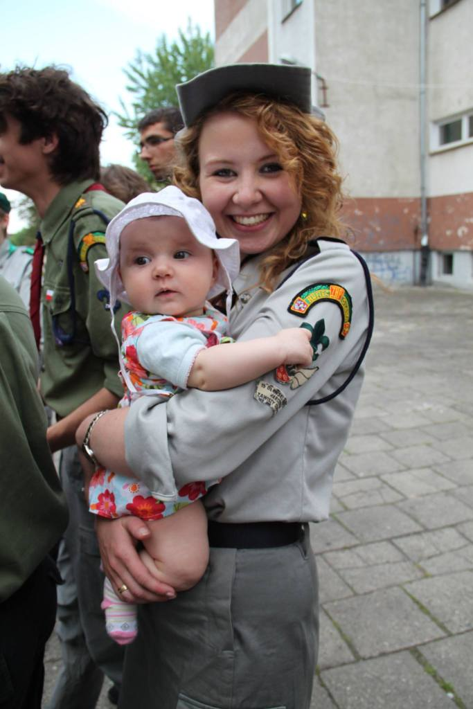 Justyna Kłeczek z córką