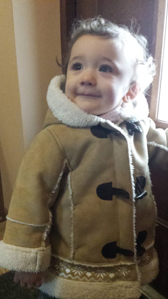 Pierwsze wyjście do żłobka, Anielka w styczniu 2016