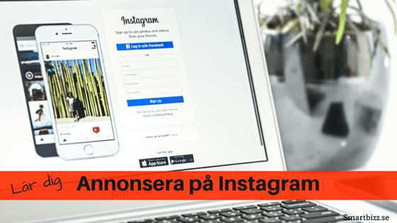 Instagram annonsering