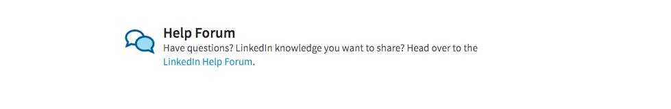 LinkedIn_help_forum
