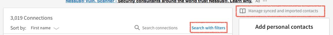 Exportera kontakter LinkedIn