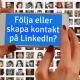 Följare och kontakter LinkedIn