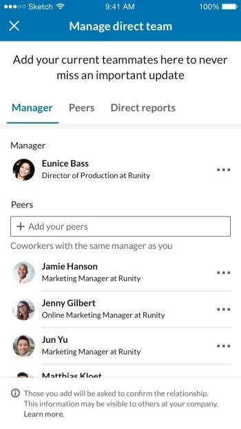 LinkedIn team mates