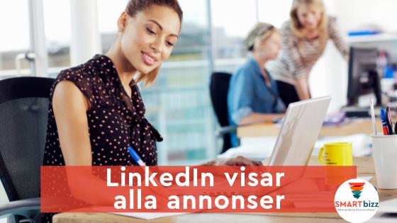 LinkedIn visar annonser