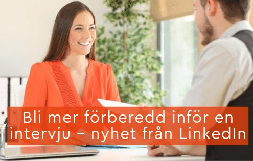 förberedd intervju LinkedIN