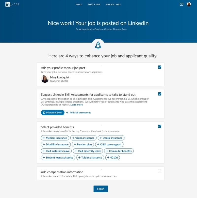 jobb med skill assessment LinkedIn