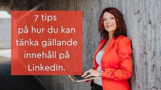 innehåll LinkedIn