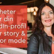 LinkedIn cover story & Creator mode