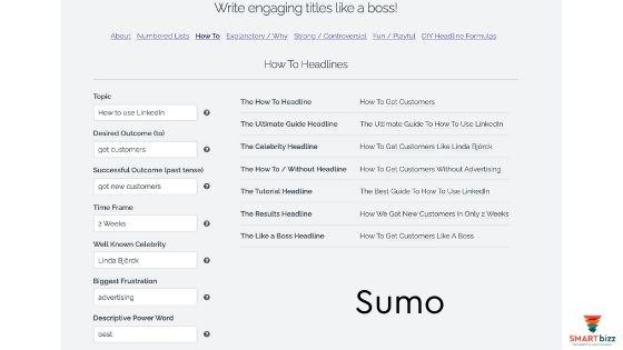 sumo innehåll förslag linkedin