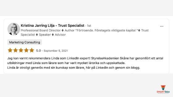 recension LinkedIn