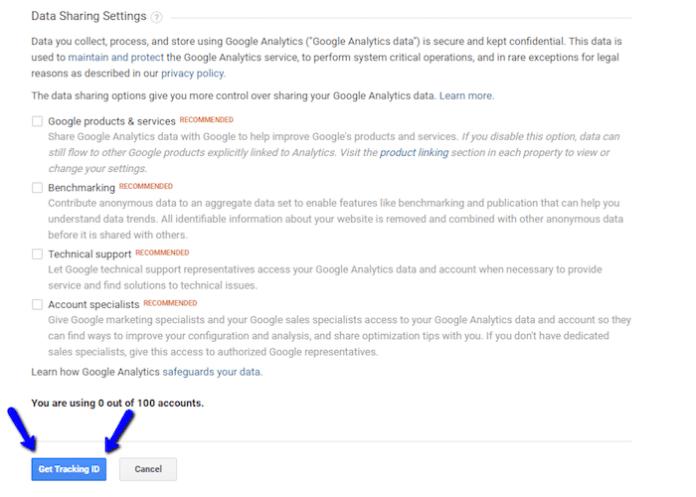 Get Google Analytics Tracking ID