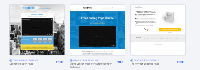 Leadpages ready-made templates