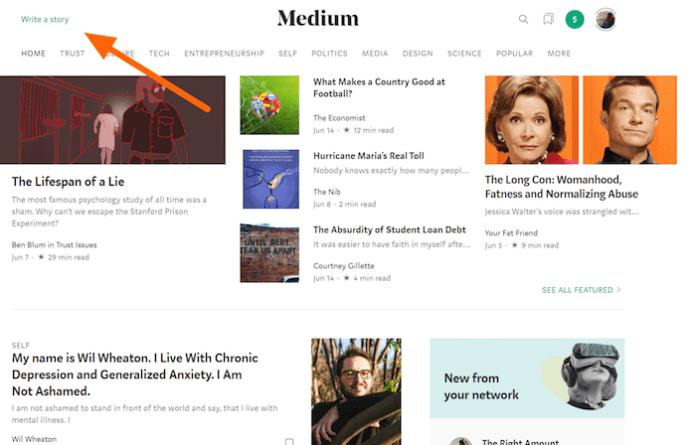 Free Blogging on Medium