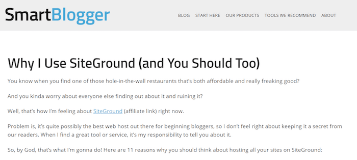 Pourquoi j'utilise Siteground - Smartblogger Review