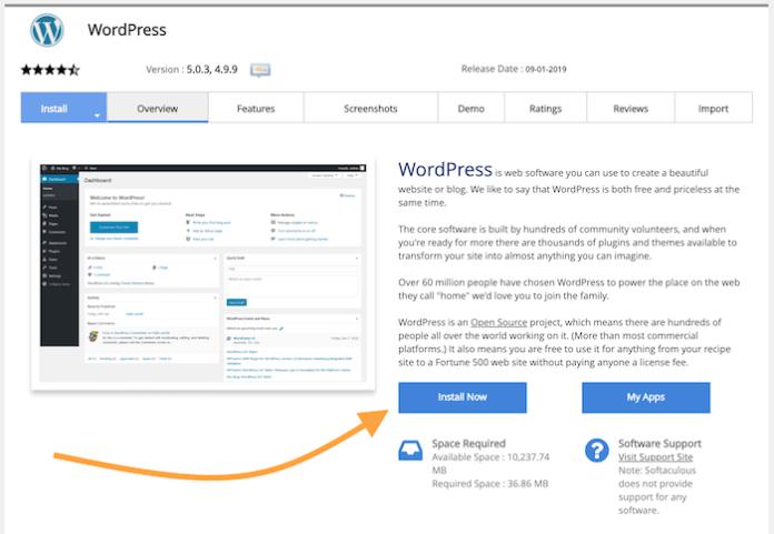 Click on the WordPress logo