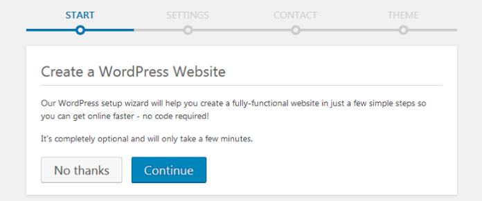 Create GoDaddy WP site