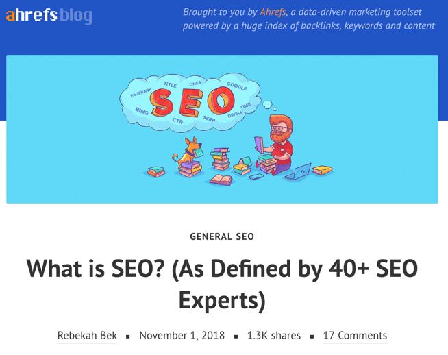 what is seo ahrefs blog