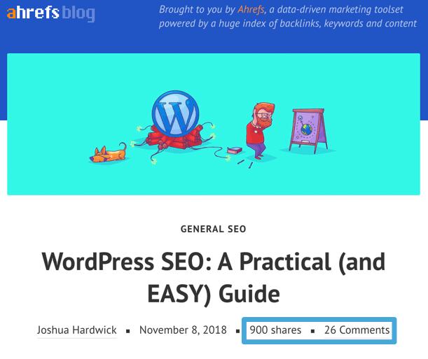 wordpress seo blog post
