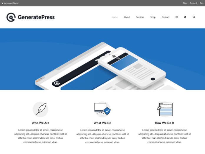 free wordpress themes GeneratePress