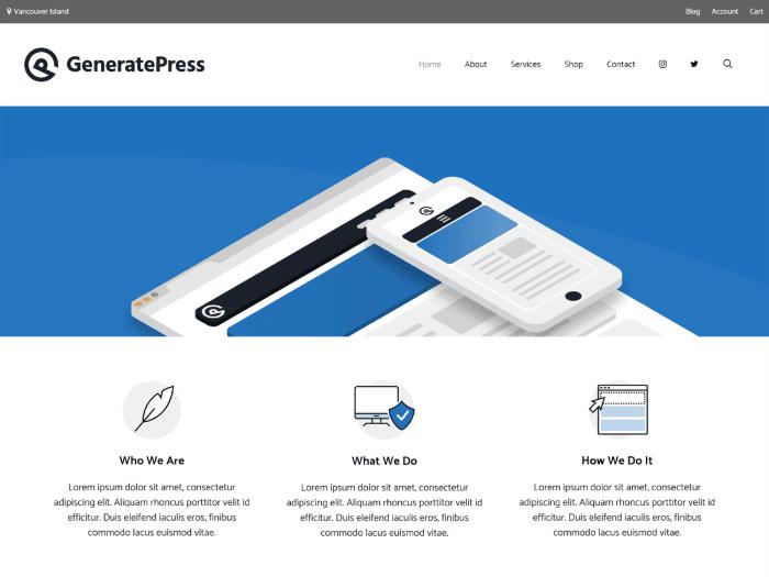 free wordpress themes GeneratePress