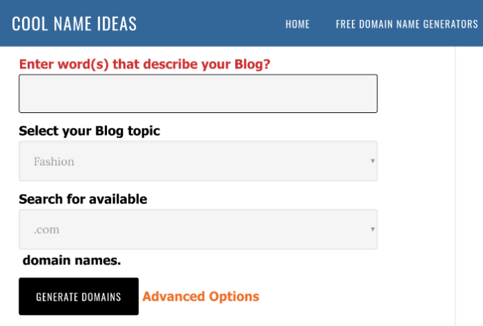 blog name generator cool name ideas