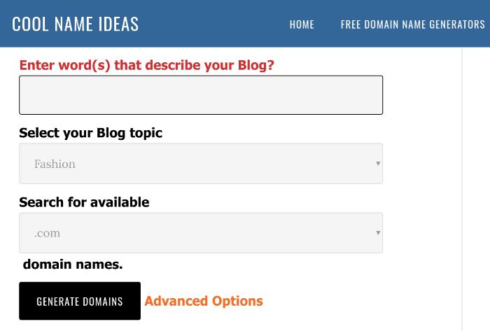 generatore di nomi di blog idee di nomi interessanti