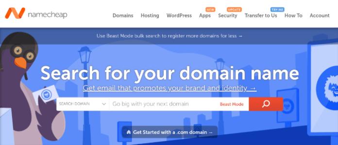 namecheap homepage