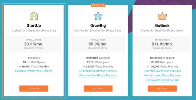 start a blog siteground hosting step 1