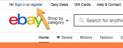 eBay Register