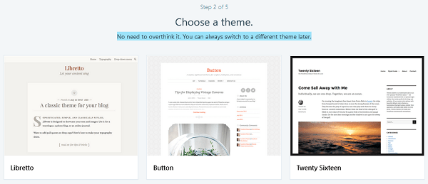Choose a WordPress.com Theme