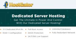 HostGator Dedicated Hosting Plans