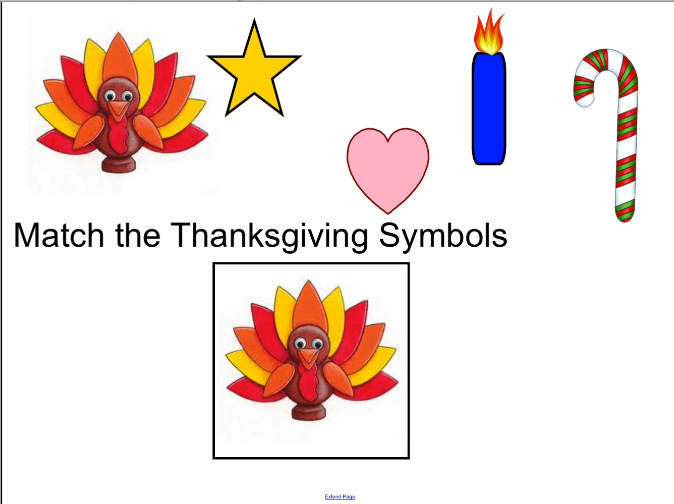 Match The Thanksgiving Symbols Smart Notebook Smart