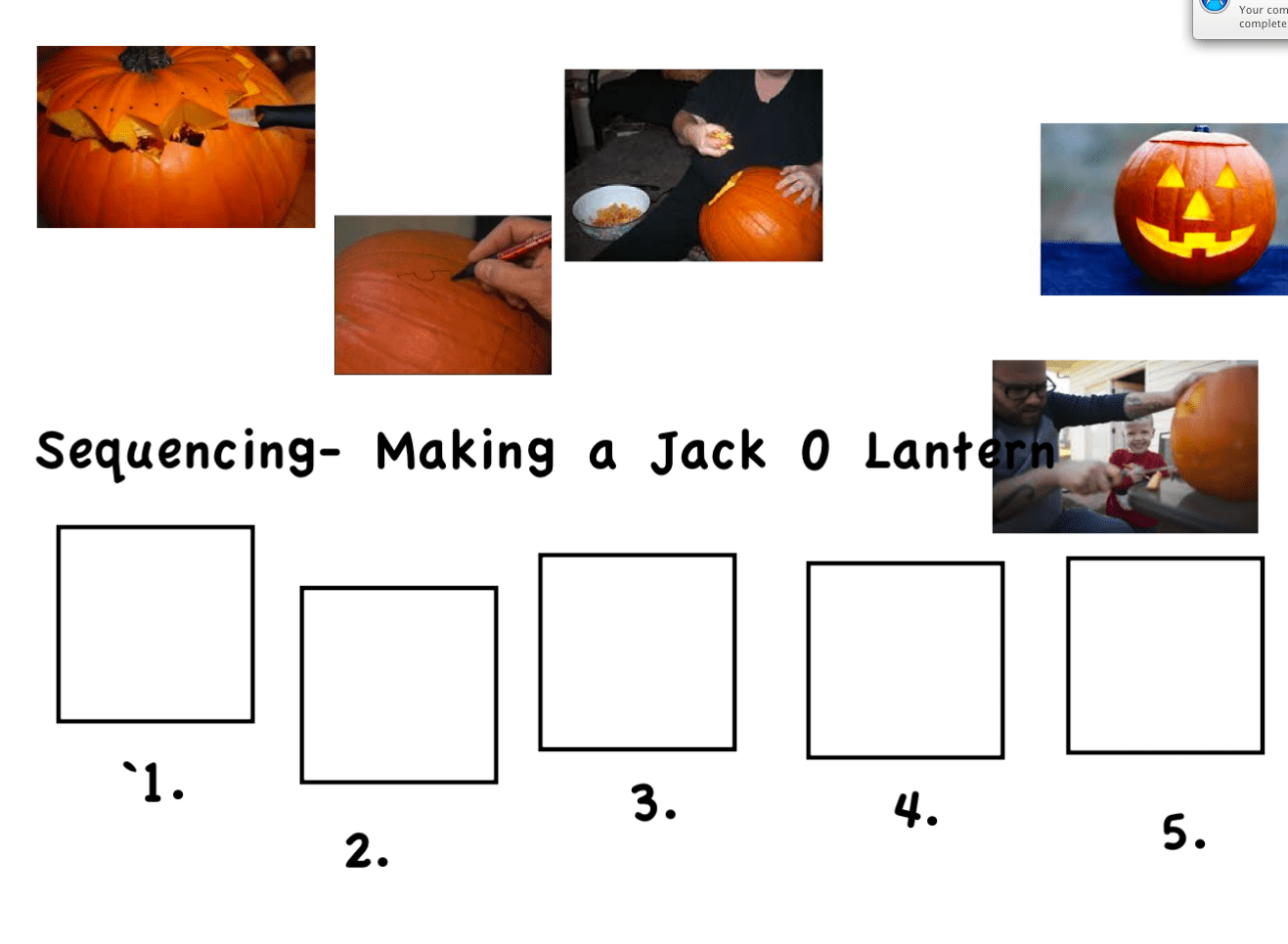 Sequencing Carving A Jack O Lantern Smart Notebook Smart Board Ideas