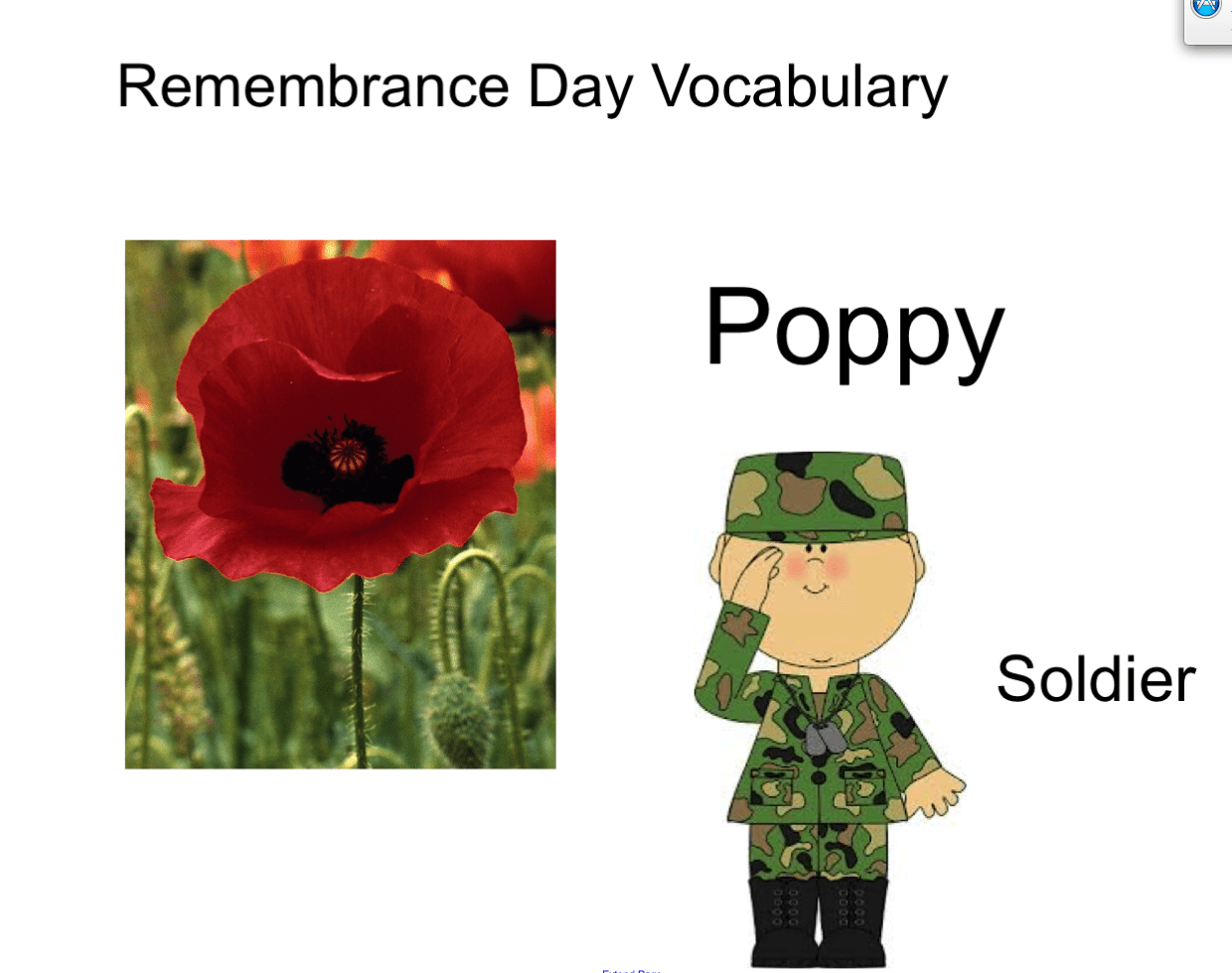 Remembrance Day Vocabulary Smart Notebook Smart Board Ideas