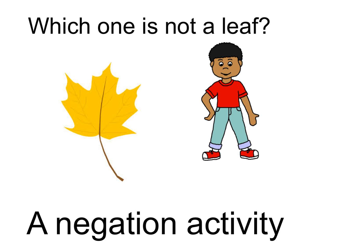 Negation Fall Smart Notebook Smart Board Ideas