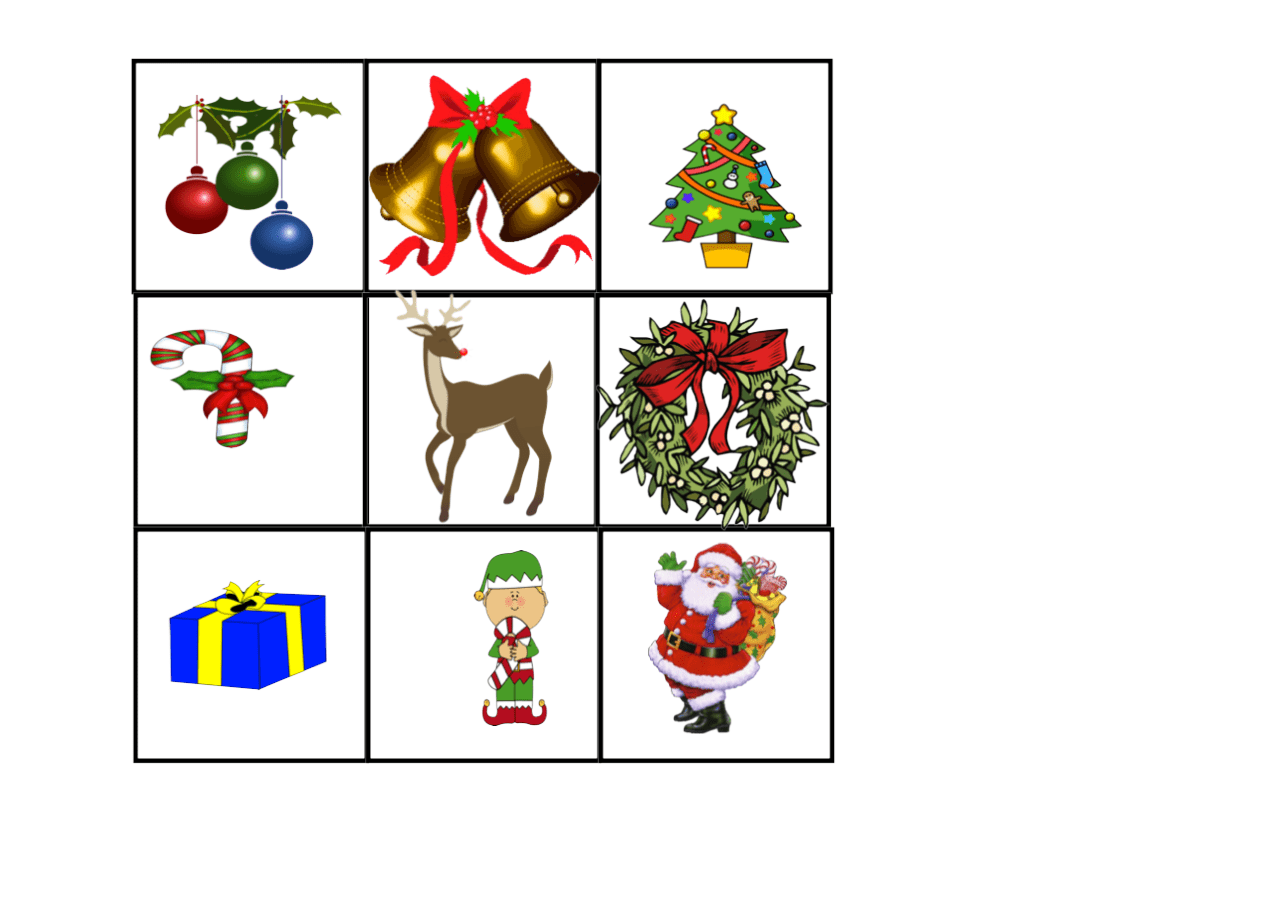 Christmas Bingo Smart Notebook Smart Board Ideas