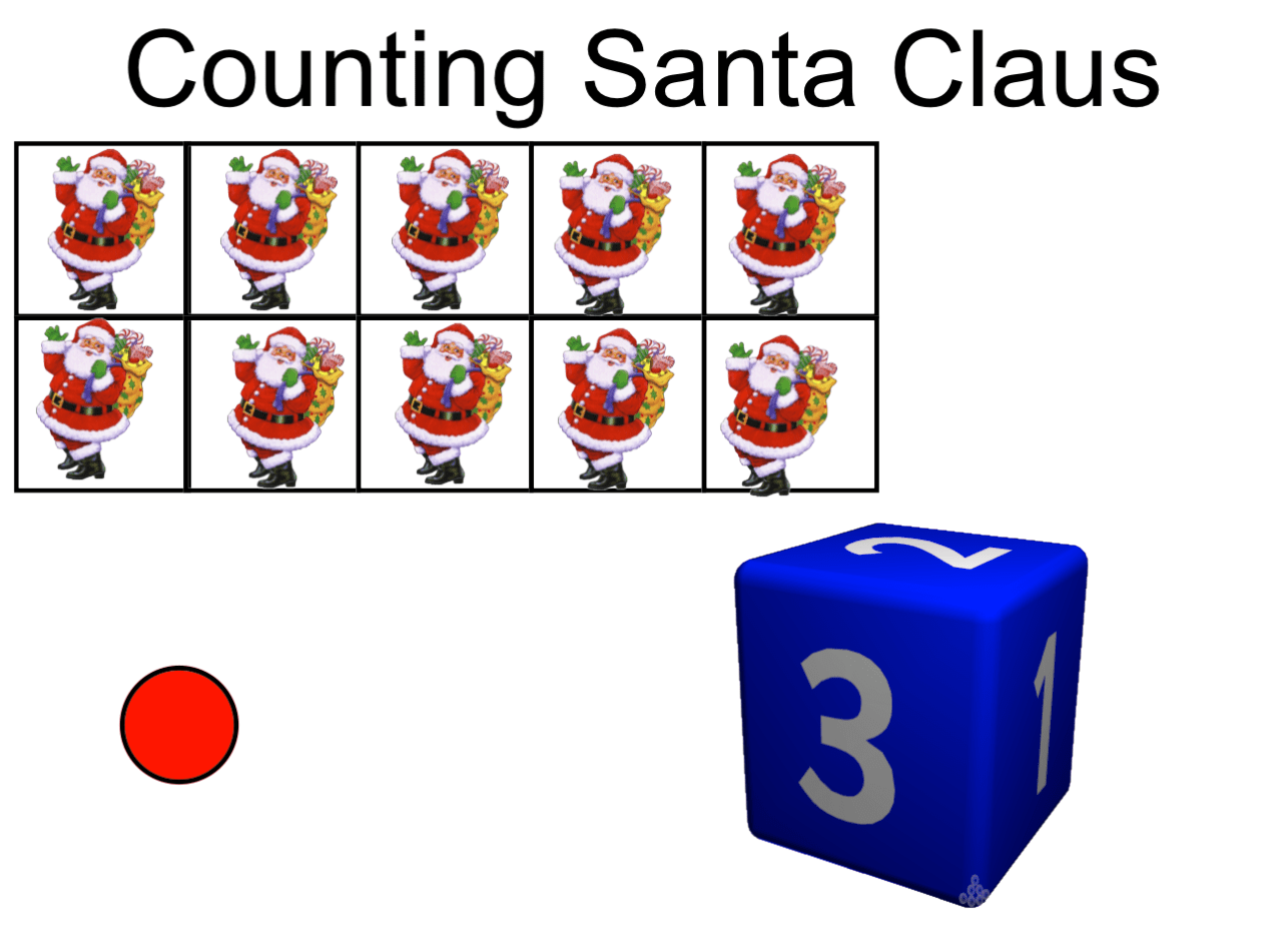Santa Claus Counting Smart Notebook Smart Board Ideas