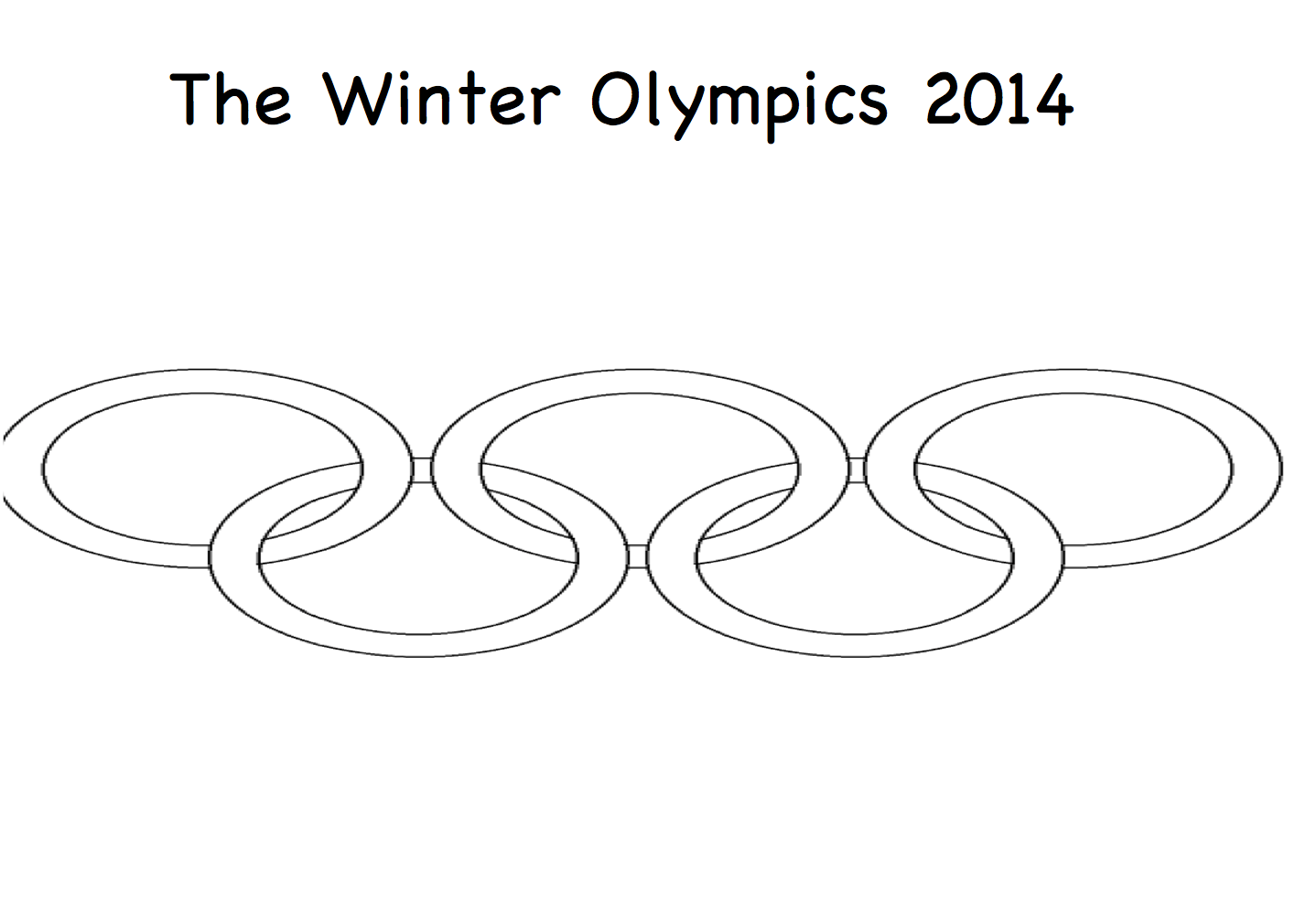 Tracing Worksheet Olympics