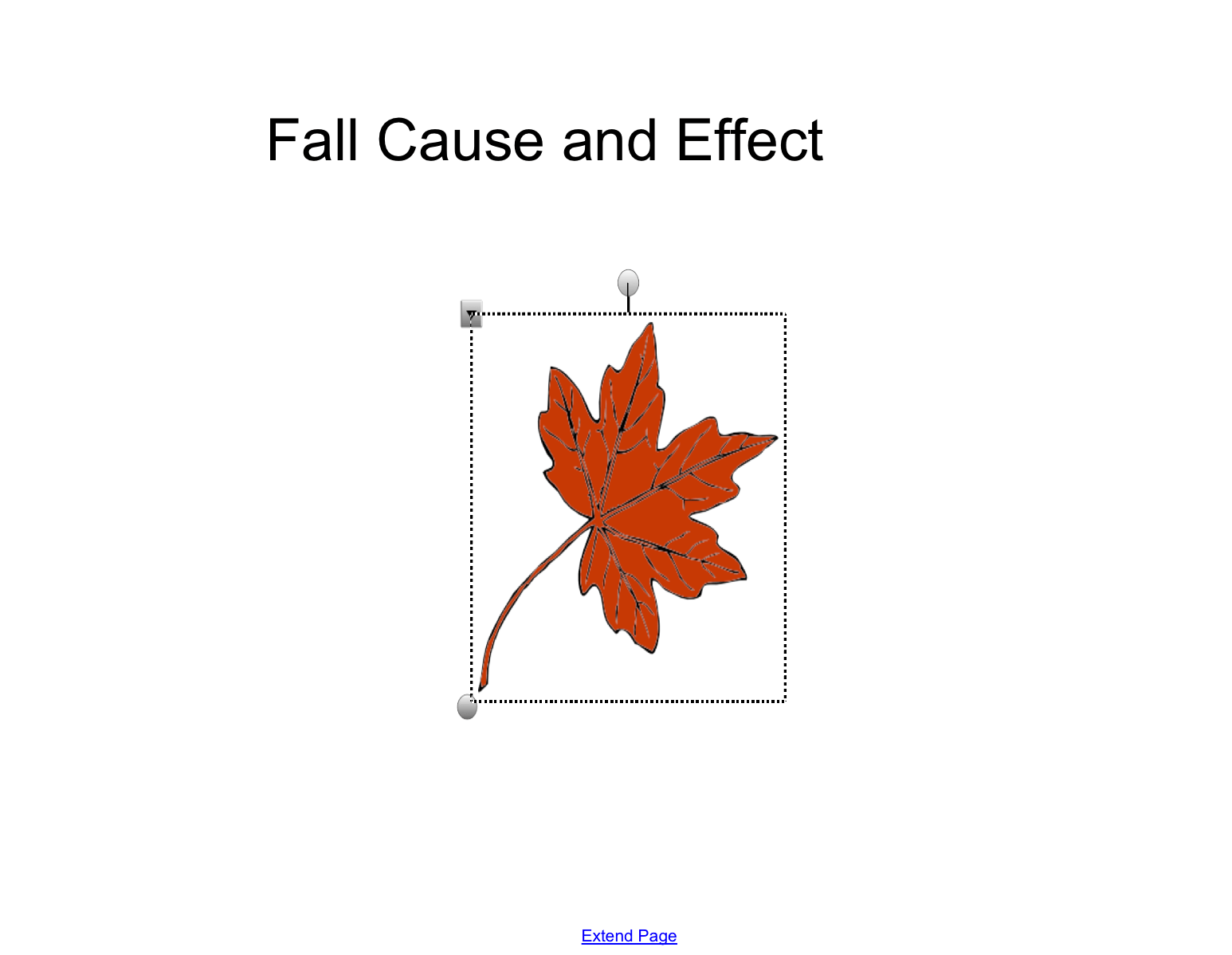 Fall Cause And Effect Smart Board Ideas
