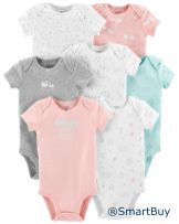 7-Pack Short-Sleeve Original Bodysuits_