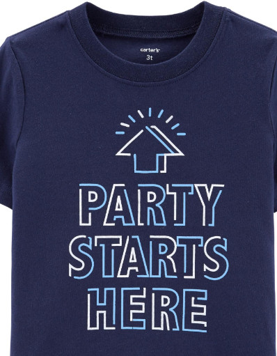 Party Starts Here Jersey Tee1