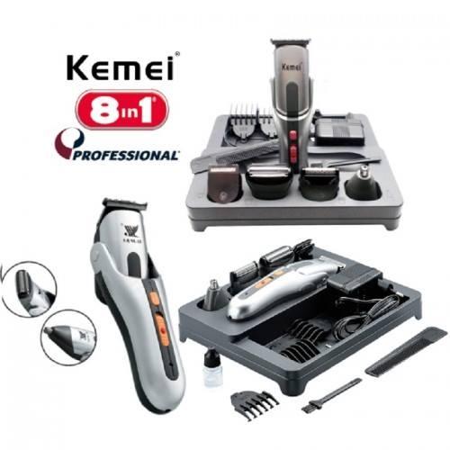 Σετ Κουρευτικής και Ξυριστικής Μηχανής για Μαλλιά και Γένια 8 σε 1 ... 22456c61072