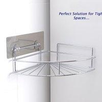 Ανοξείδωτο Αυτοκόλλητο Γωνιακό Ράφι Μπάνιου Removable Corner Shelf