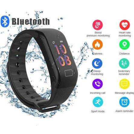 Αδιάβροχο Smart Band F1 Ρολόι Άθλησης με Καταγραφή Βημάτων, Οξυγόνου Αίματος, Ύπνου & Καρδιακών Παλμών