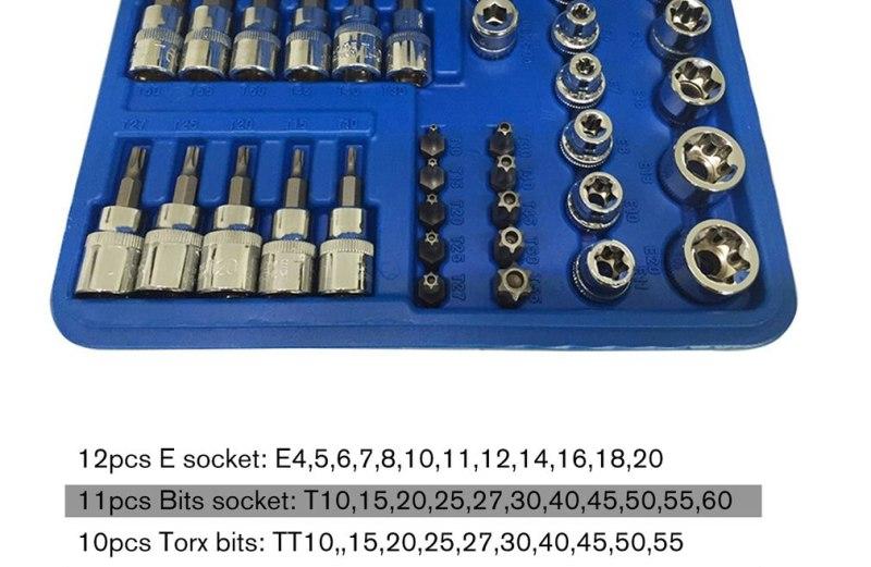Σετ Καρυδάκια Torx & Μύτες CR-V 34 Τεμαχίων σε Κασετίνα