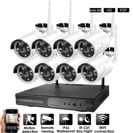 Σετ Σύστημα WiFi CCTV P2P 8 Κάμερες 1080P HD H.264 HEVC NVR 16322