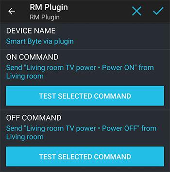 הגדרת מכשיר שיכבה וידליק את הטלויזיה ב RM Plugin