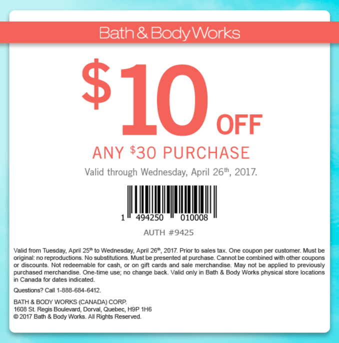 Coupons Feb Bath Works 2014 Body And Store